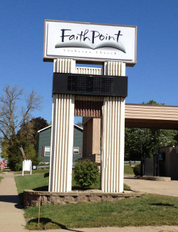 FaithPoint Lutheran Church sign