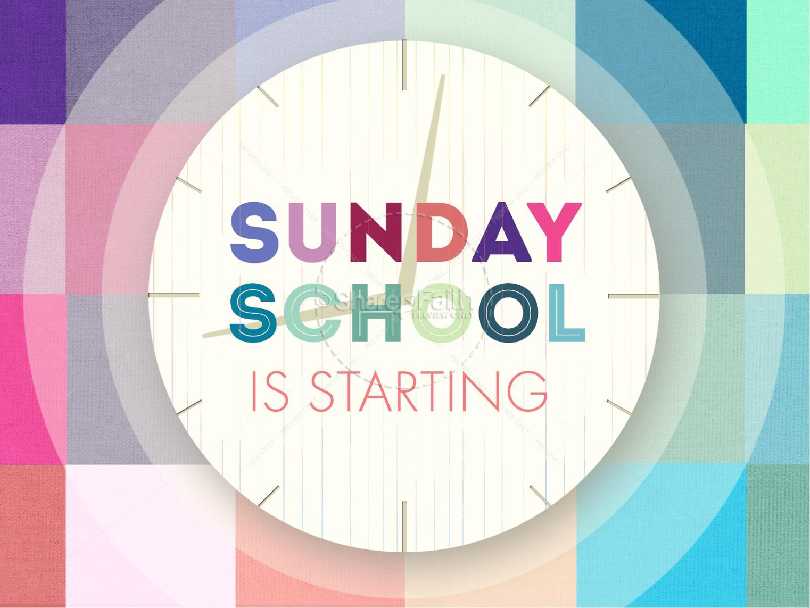 Sunday School starts Sept. 10